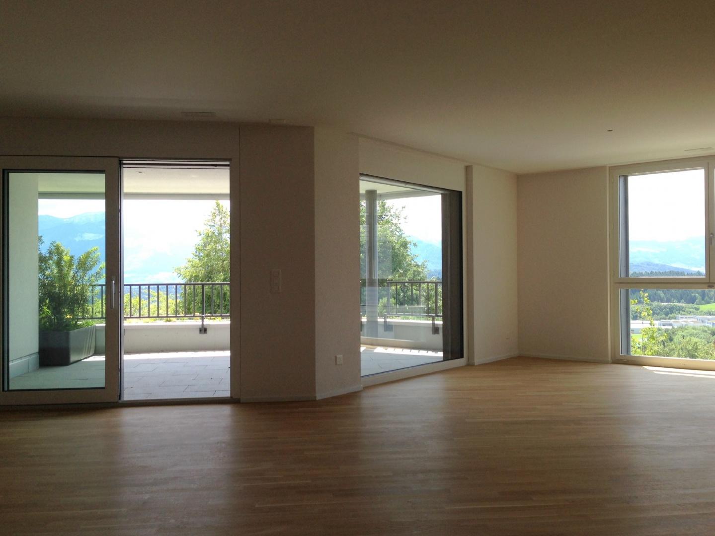 Salon avec terrasse © Landhaus-Bau Architekturbüro