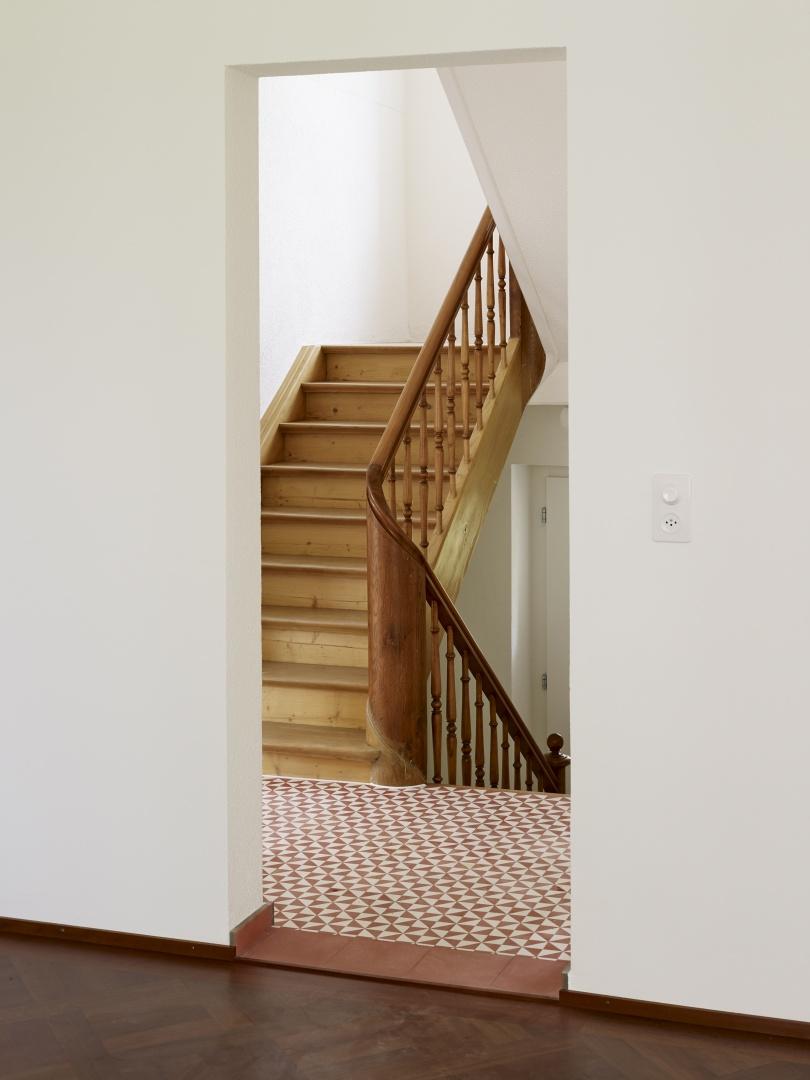 Der Treppenaufgang © Ariel Huber, Edit, Brauerstrasse 45 8004 Zürich