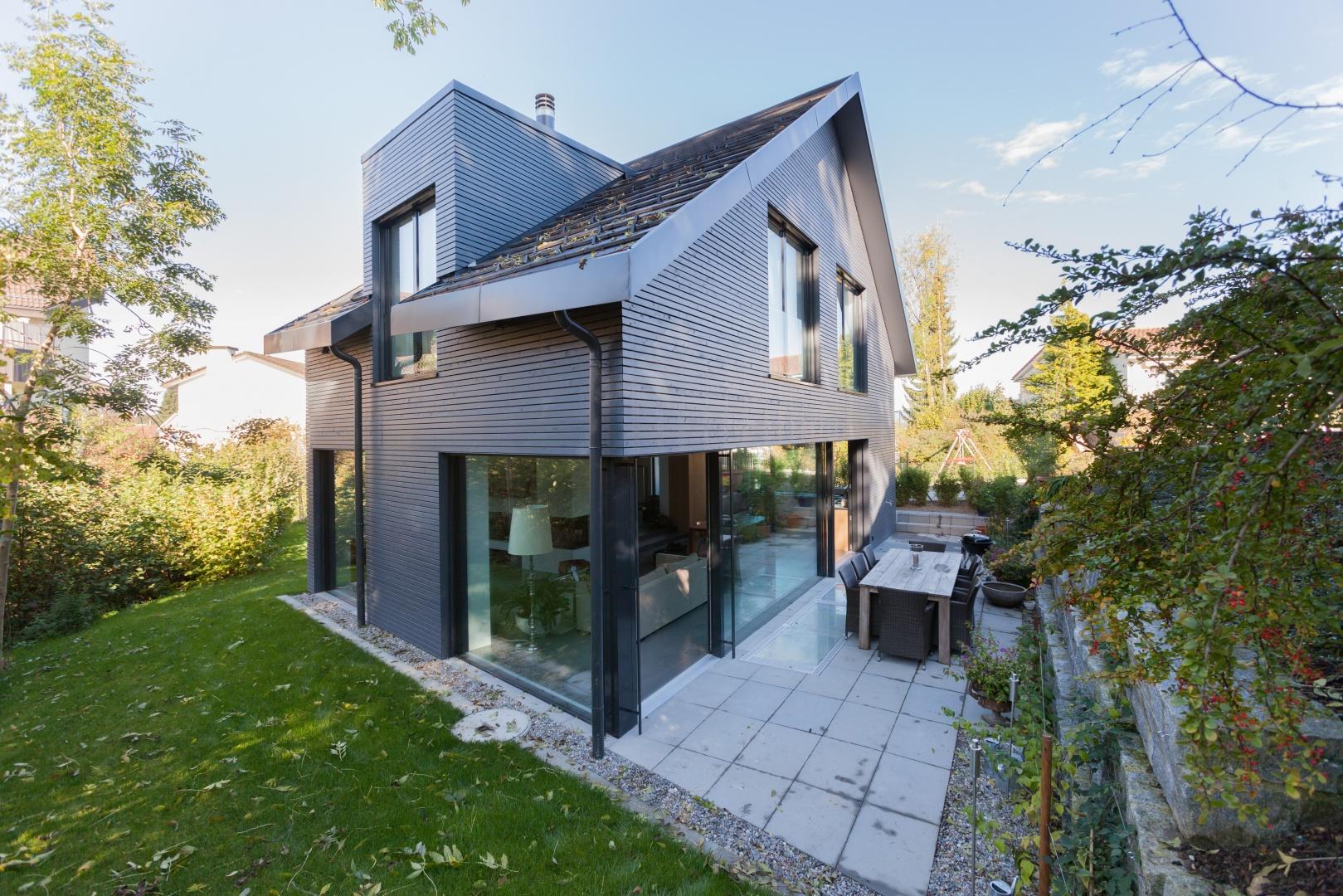 Süd-West-Ansicht © von Mann Architektur GmbH, Sonnenhofstrasse 2, 8132 Egg
