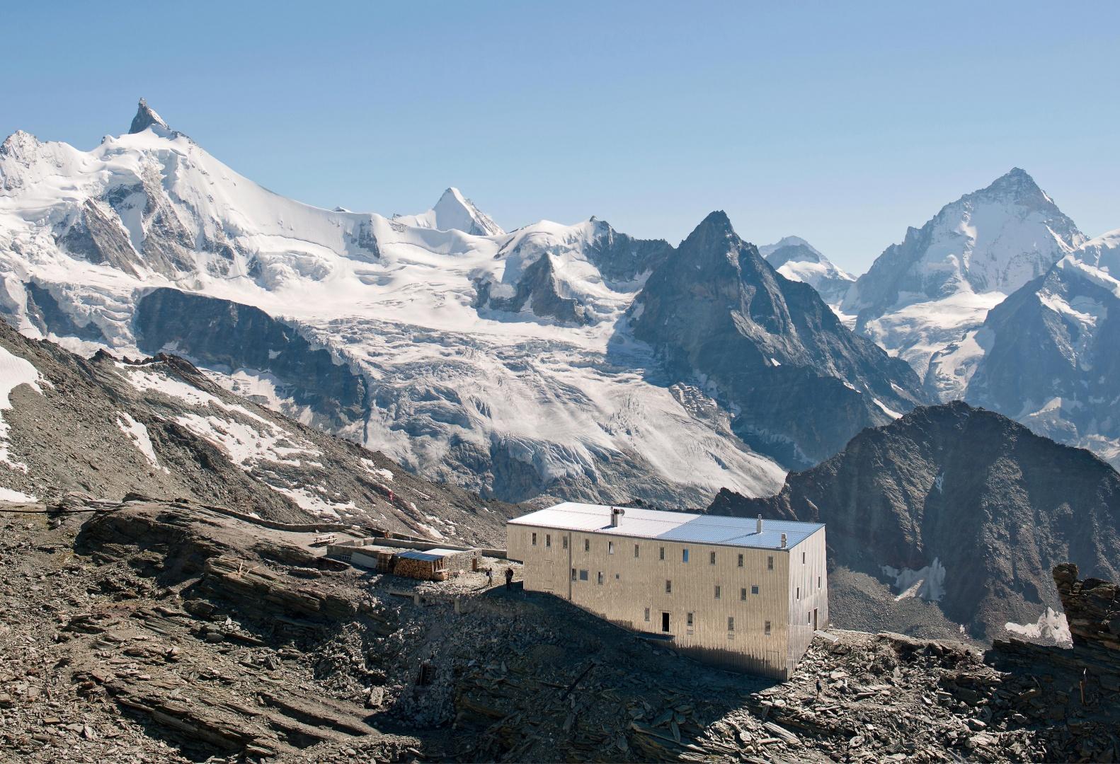 Nouvelle Cabane De Tracuit Zinal Schweizer Baudokumentation