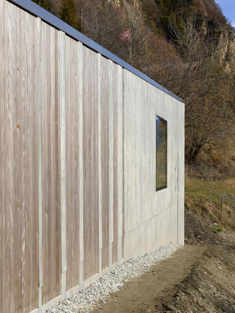 Détail matérieux façade © Thomas Jantscher