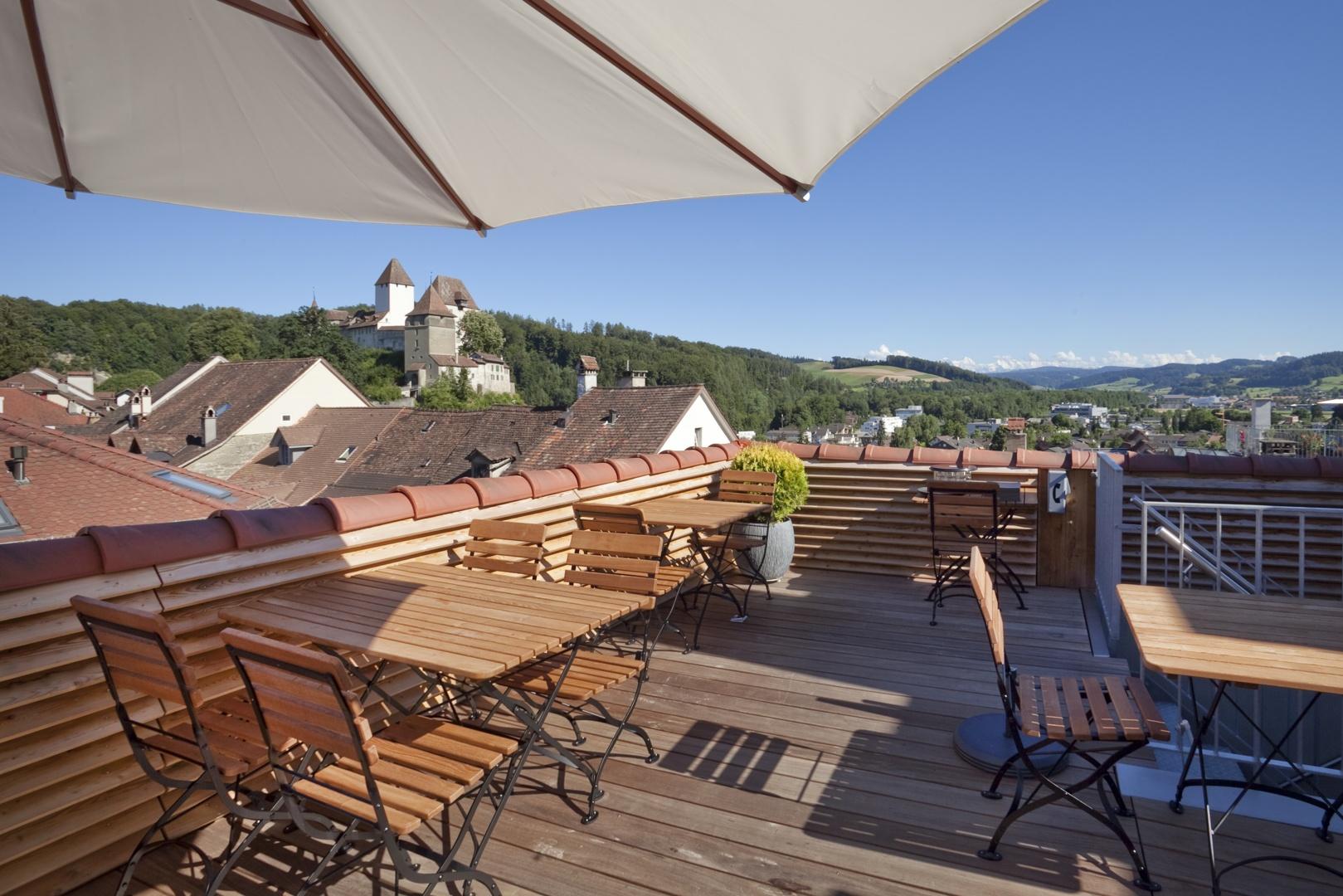 Dachterrasse © Kaufmann und Arm AG, Kornhausgasse 11, 3401 Burgdorf