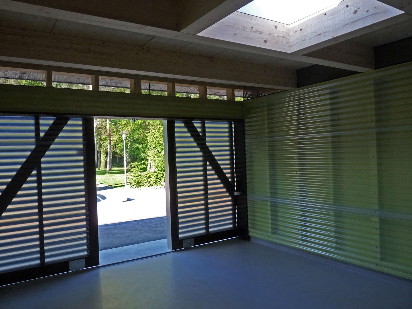 entrée transparence intérieur © GMS Architectes SA