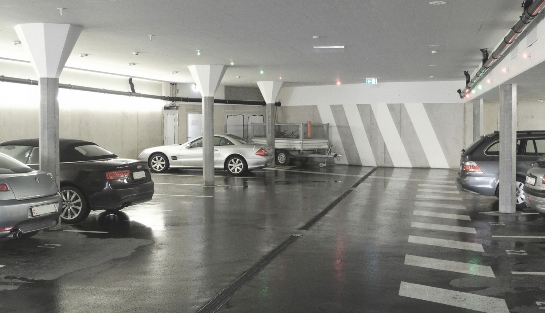 Untere Parkingebene © Patrick Roost Planung Architektur GmbH