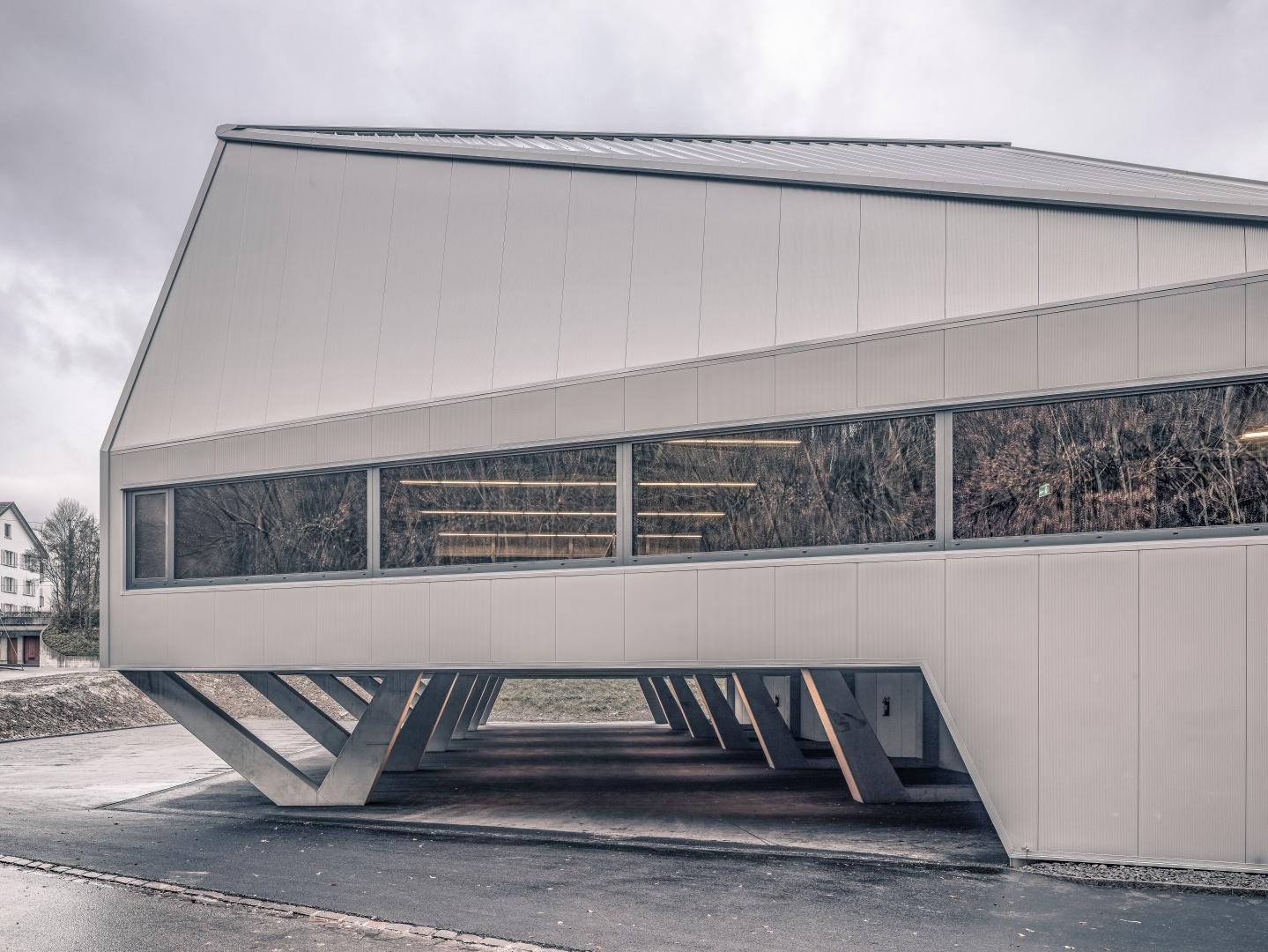 Ansicht Ost mit Blick in Halle und Parkgasse  © Roger Frei, Zürich