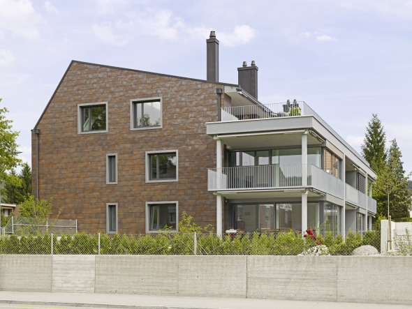 Fassade, Feinsteinzeug, glasiert © Ganz Baukeramik AG