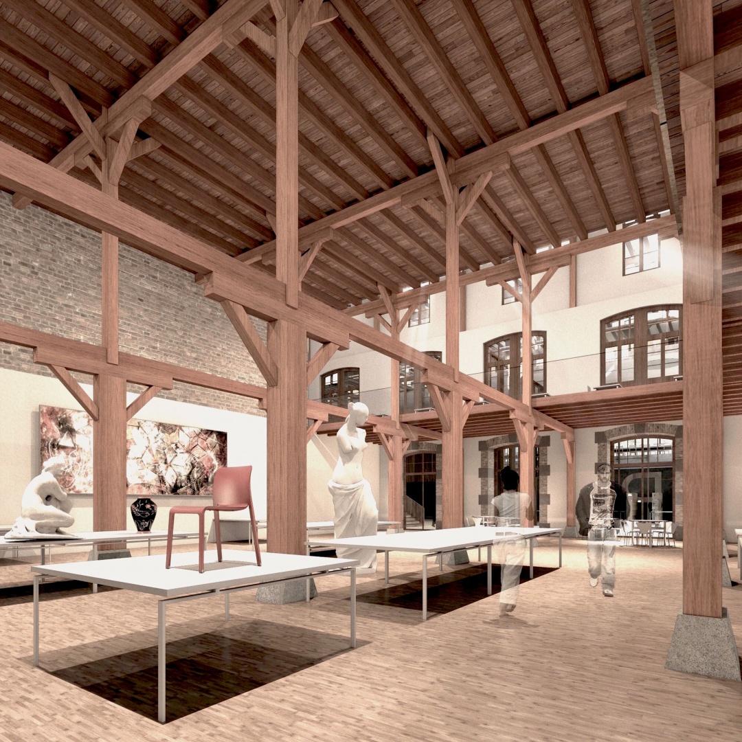 Projet pour une école d\'art et de design   Schweizer Baudokumentation
