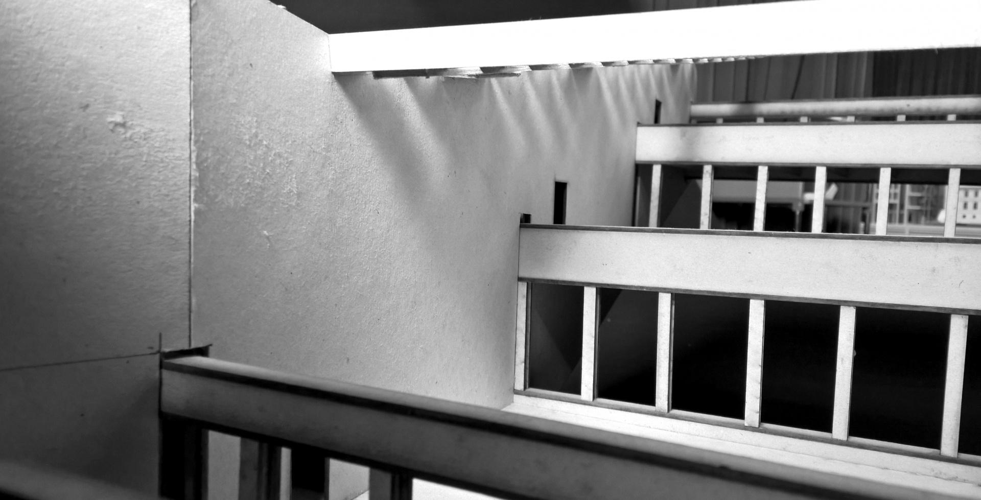 Riesige Vierendeelträger zeigen Raum und Abstufung © Ehrle / Schuld