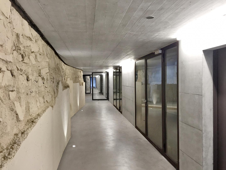 Couloir entre vieil et nouveau bâtiment © SPPA, Zürich