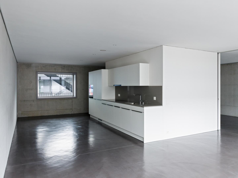 Küche-Wohnbereich © Georg Aerni, Sihlquai 268, 8005 Zürich