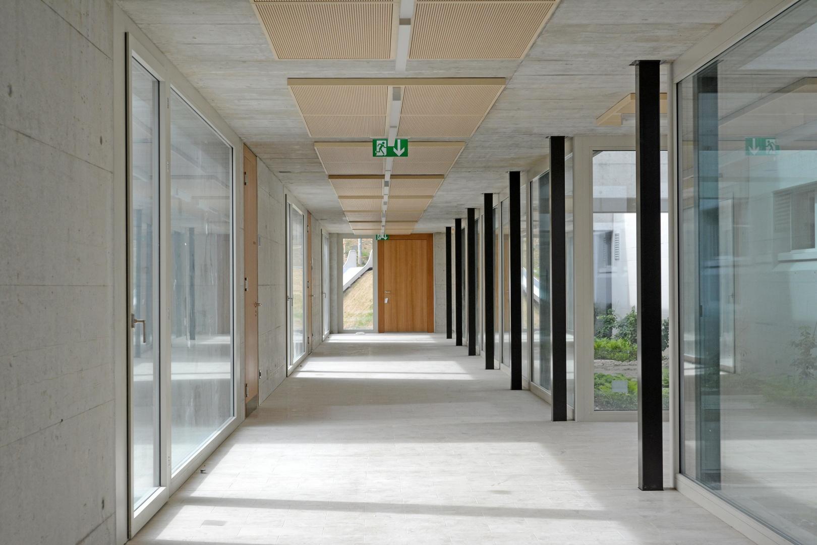 Korridor Kindergärten © Hopf & Wirth Architekten, Rychenbergstrasse 2,  8400 Winterthur