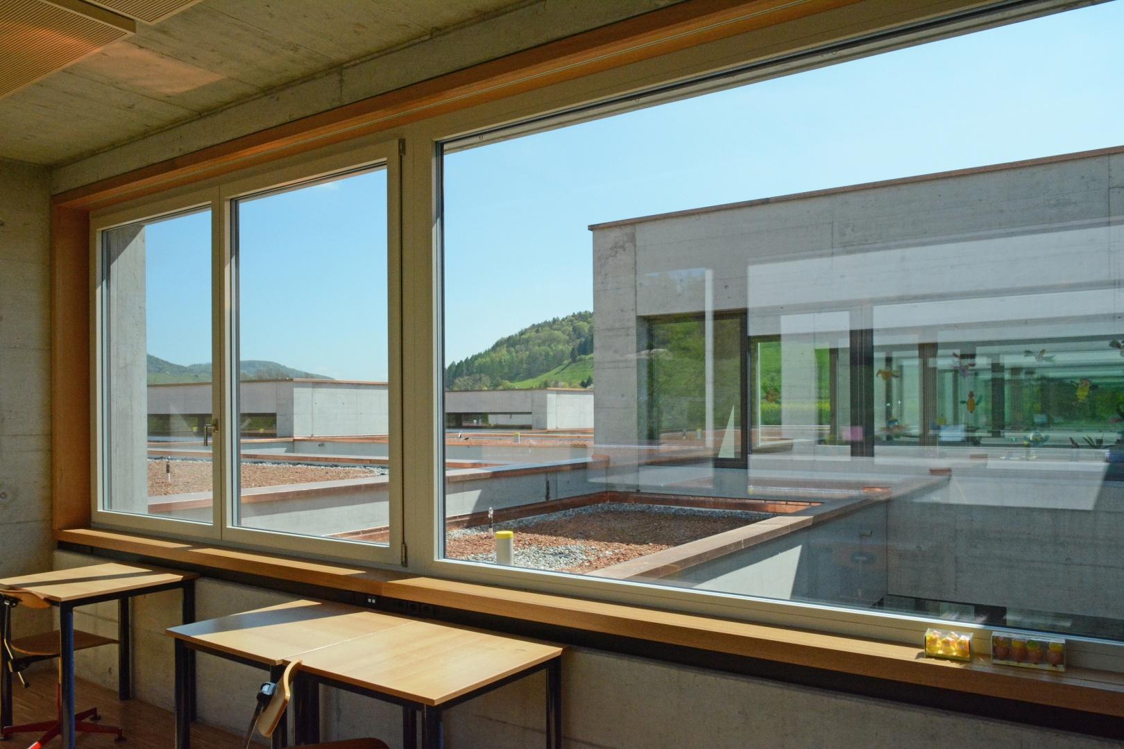 Blick aus den Gruppenräumen © Hopf & Wirth Architekten, Rychenbergstrasse 2,  8400 Winterthur