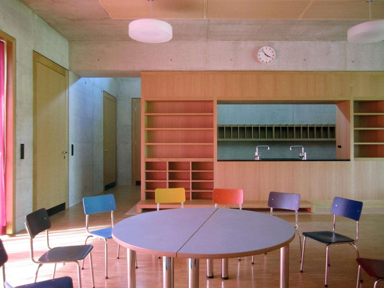 Klassenraum Kindergarten © Hopf & Wirth Architekten, Rychenbergstrasse 2,  8400 Winterthur