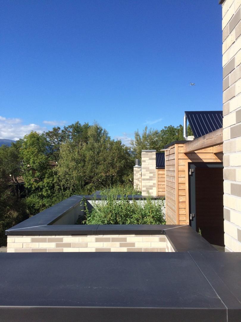 Quatre maisons contigu s aire la ville gen ve documentation suisse du batiment for Construction piscine geneve