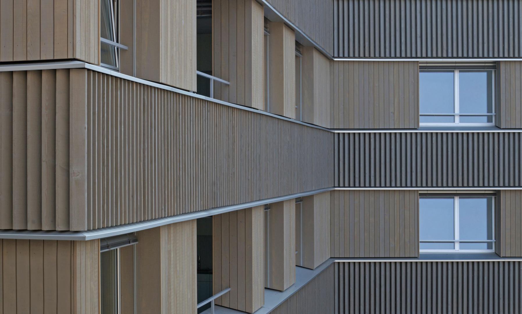 Ausschnitt Holzfassade © Judith Kuoni