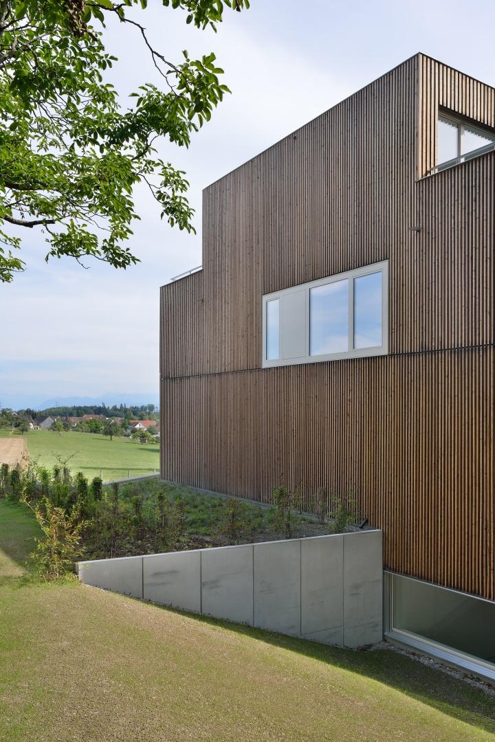 Ansicht Fenster Richtung Norden zum Nussbaum  © Sabrina Scheja, Berneckerstrasse 215, CH-9435 Heerbrugg
