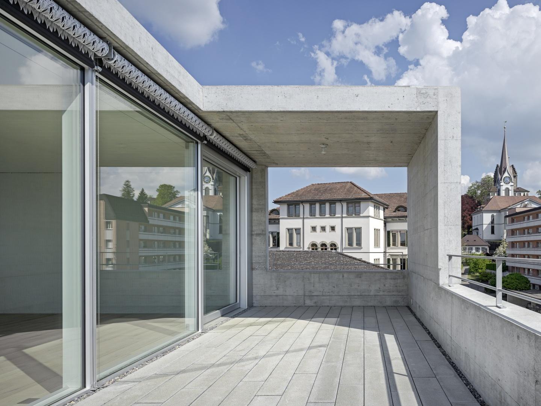 Aussenraum der Dachgeschosswohnung © Roger Frei, Zürich