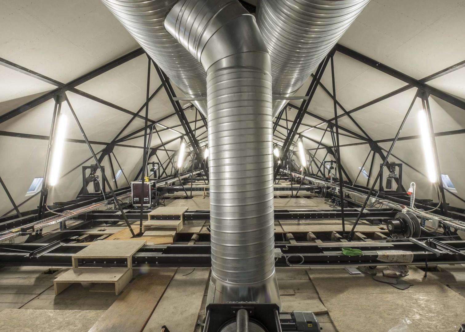Dachstock mit Technik © architecum, Montreux