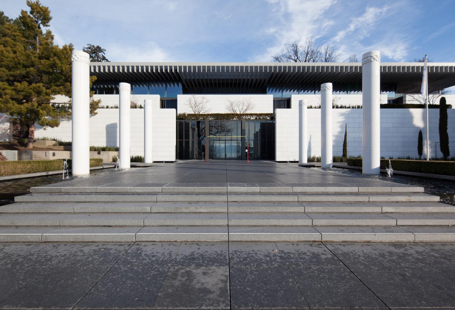 Entrée sud Musée olympique © Brauen Wälchli Architectes