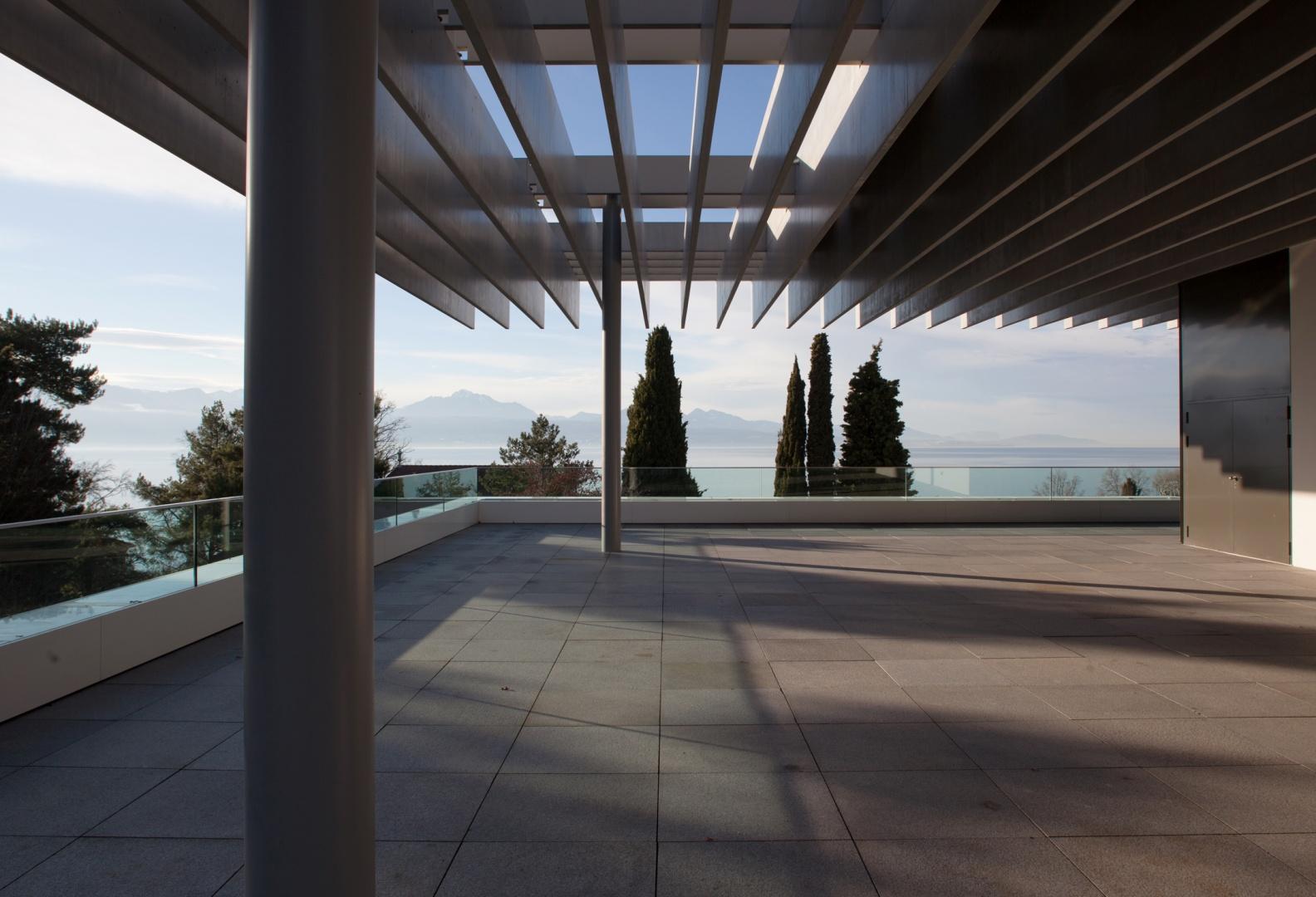 Terrasse et toiture Musée olympique © Brauen Wälchli Architectes