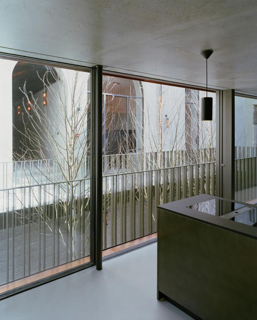 Blick von Innen in den Hof © Joël Tettamanti, www.tettamanti.ch