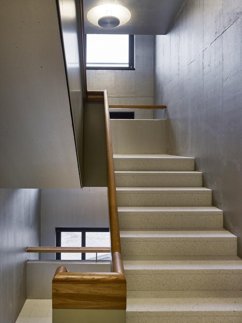 Treppenhaus architektur  Wohnüberbauung Guggach | Schweizer Baudokumentation