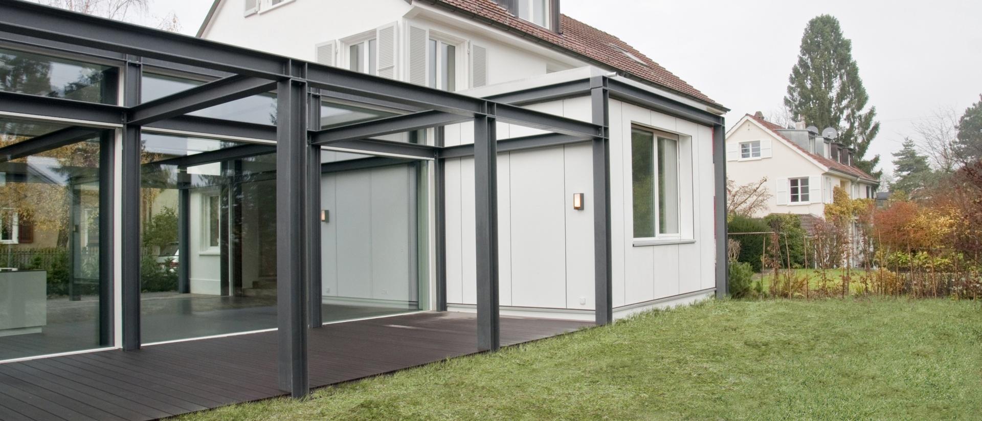 umbau und erweiterung einfamilienhaus schweizer baudokumentation. Black Bedroom Furniture Sets. Home Design Ideas