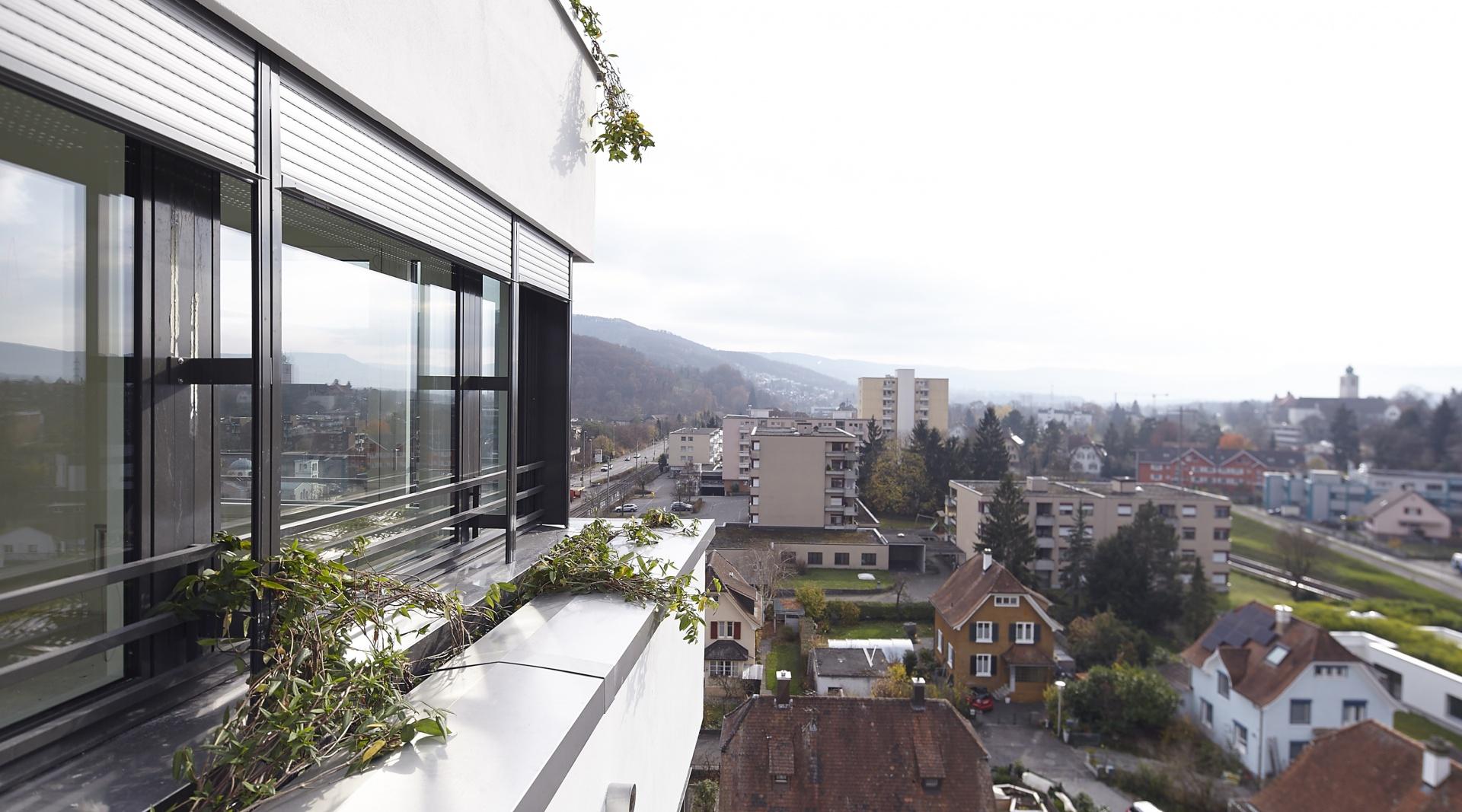 Stollturm Aussicht © Architektur Rolf Stalder AG / Maria Gambino