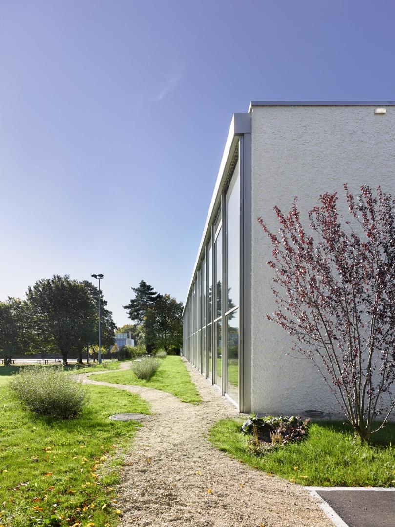 Halle Garten  © Architekturfotografie Gempeler Alexander Gempeler Fotograf SBF|SWB Seidenweg 8a Postfach 524 CH-3000 Bern 9