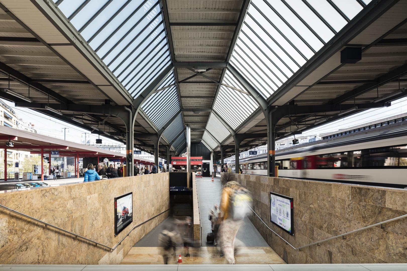 Zugang zu den Bahnsteigen © Fernando Guerra, Lisbonne