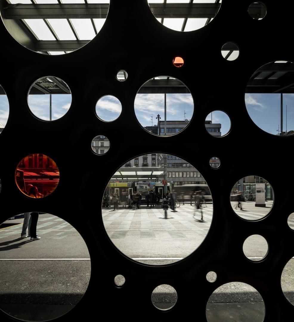 Détail de la porte d'entrée principale © Fernando Guerra, Lisbonne