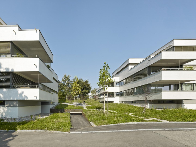 quartiertypische durchlaufende Grünräume © Jürg Zimmermann, Malzstrasse 13, 8045 Zürich