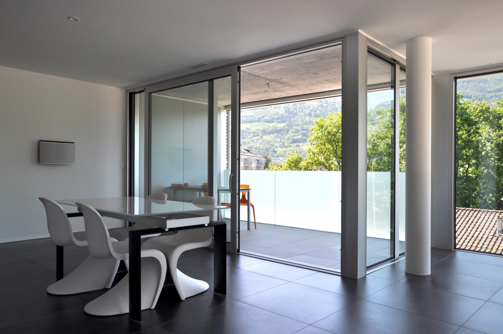 Innenansicht 1 Wohnung © Savioz & Di Berardino architectes