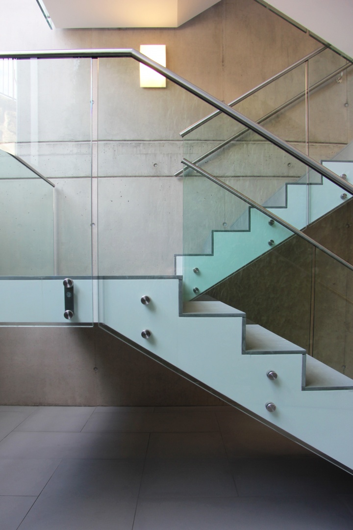 Détail de l'escalier  © Savioz & Di Berardino architectes
