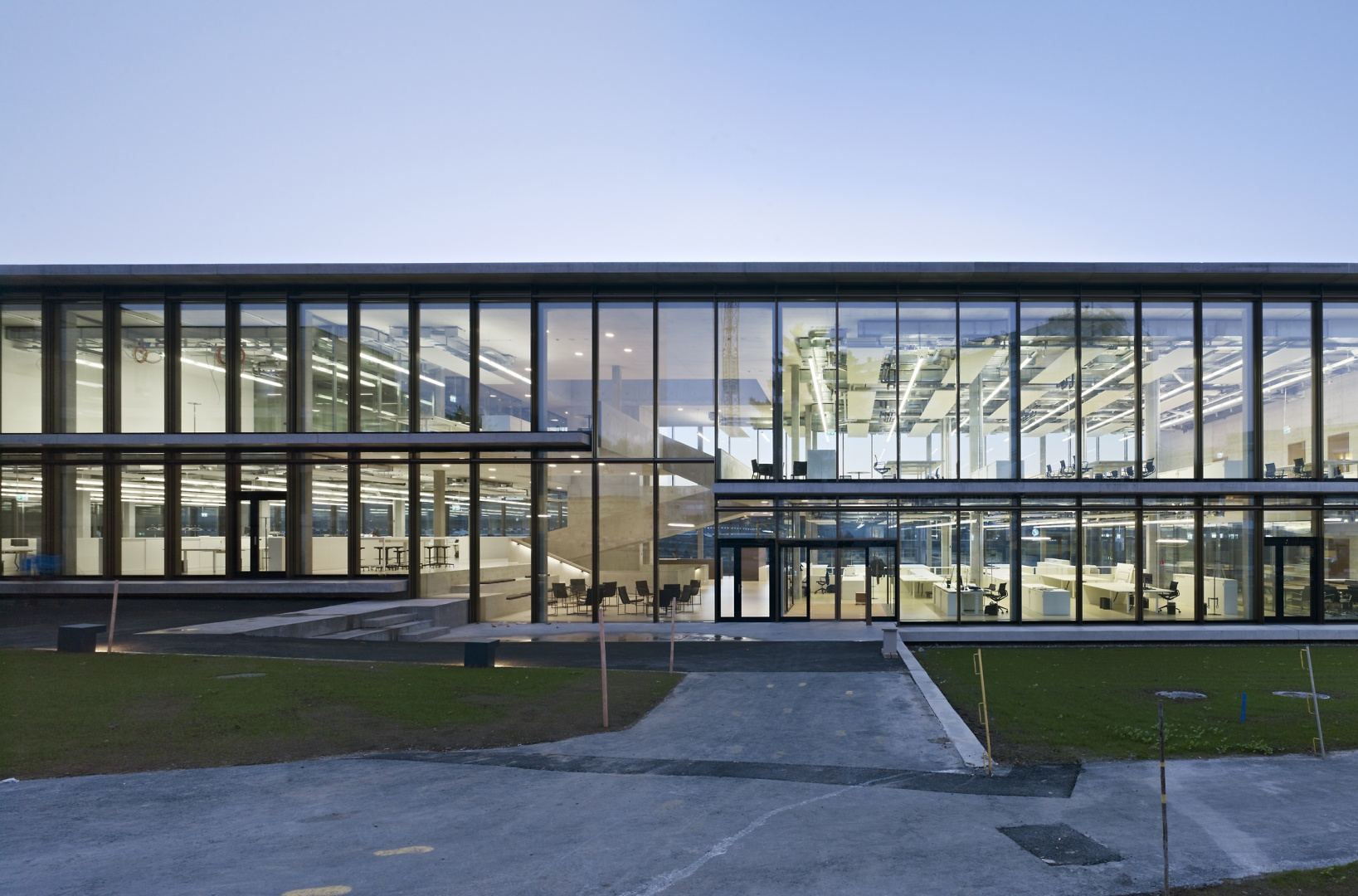 Ostfassade mit Haupteingang © Nissen Wentzlaff Architekten, Basel
