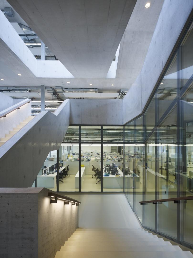 Blick in Nasslabore © Nissen Wentzlaff Architekten, Basel
