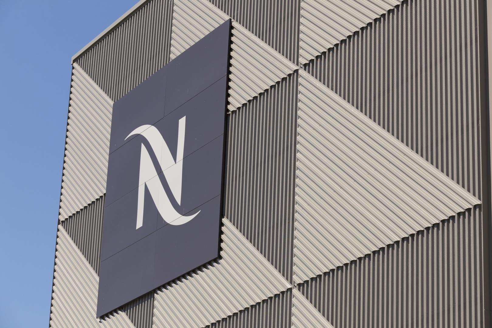 Fassade mit Nespresso-Logo © Nicolas Repond - Nespresso