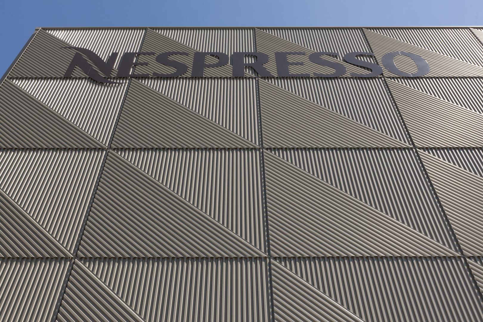 Facade Logo Nespresso © Nicolas Repond - Nespresso