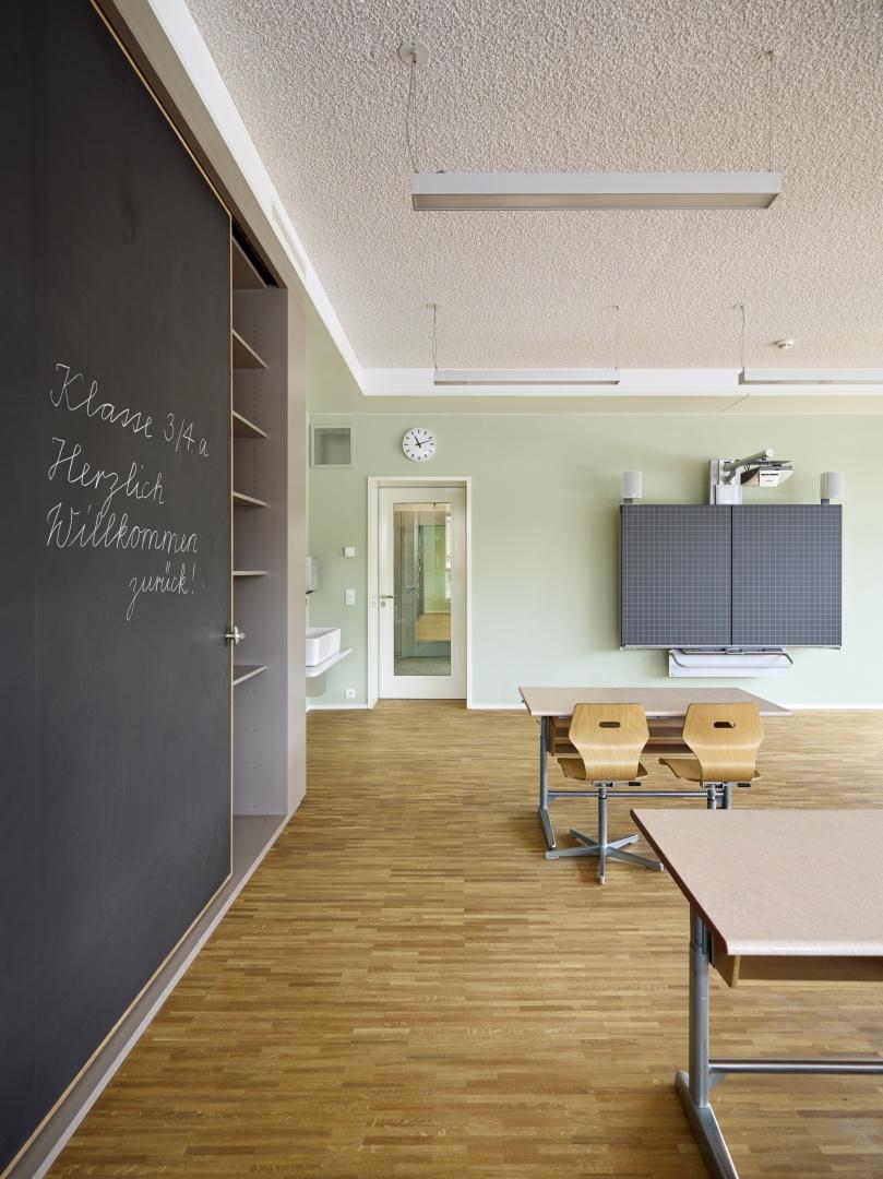 salle de classe, armoir © Michael Fritschi, foto-werk gmbh,  Klingelbergstrasse 97, 4056 Basel