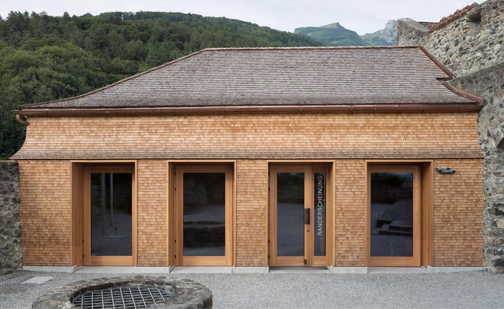 Erweiterung Museum Schloss Werdenberg - Ansicht des Neubaus © Foto: Walter Mair, Zürich