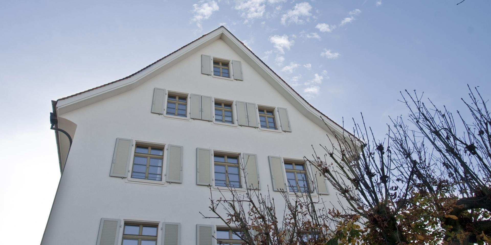 Gartenstadt_Giebelfassade © Architektur Rolf Stalder AG