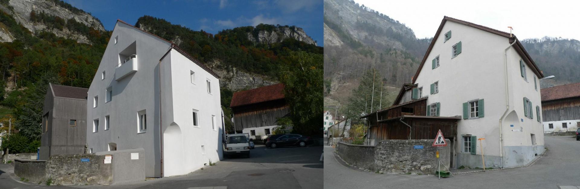 Vergleich vorher/nachher © Franziska Eggenberger und Michael Mader