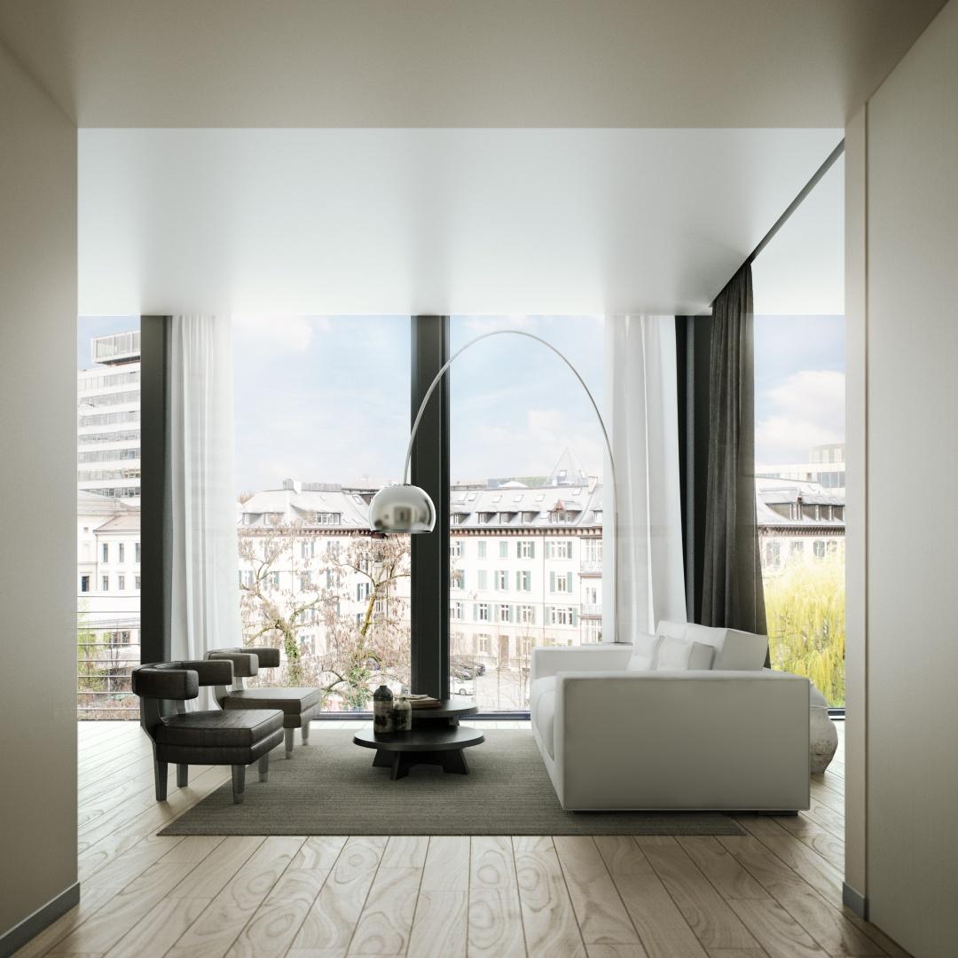Interior Render B © Kalfopoulos Architekten AG