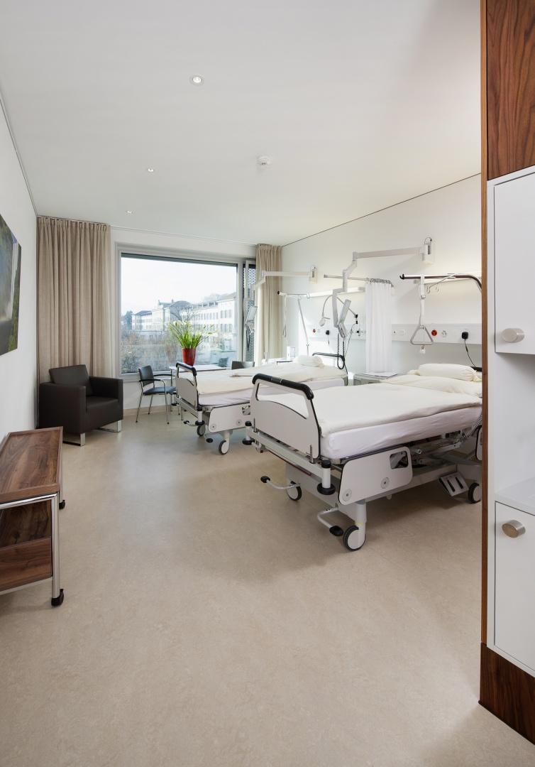 Bettenhaus Zimmer © Schulthess Klinik