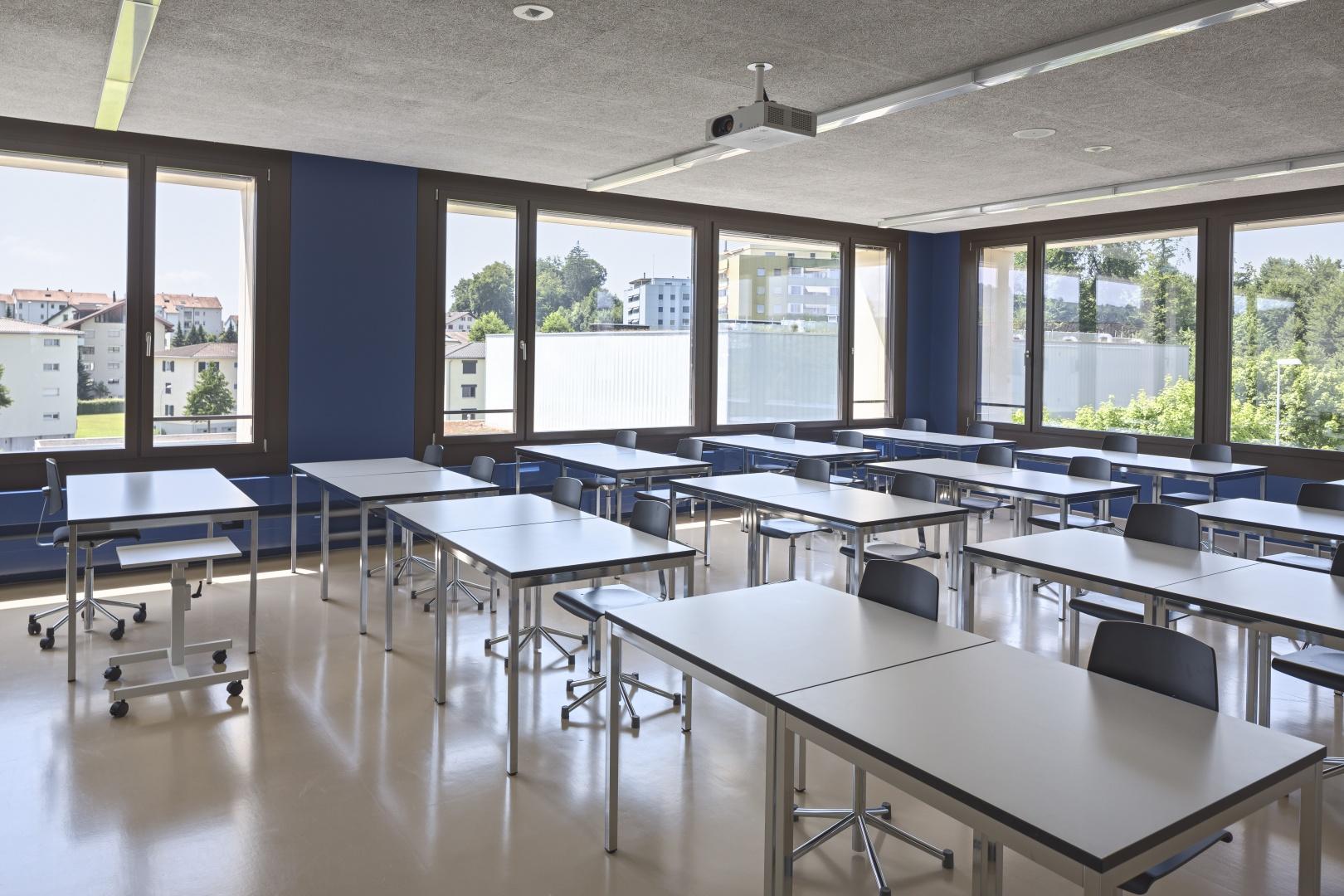 Unterrichtszimmer Gebäudeecke © Stefano Schröter, 6003 Luzern