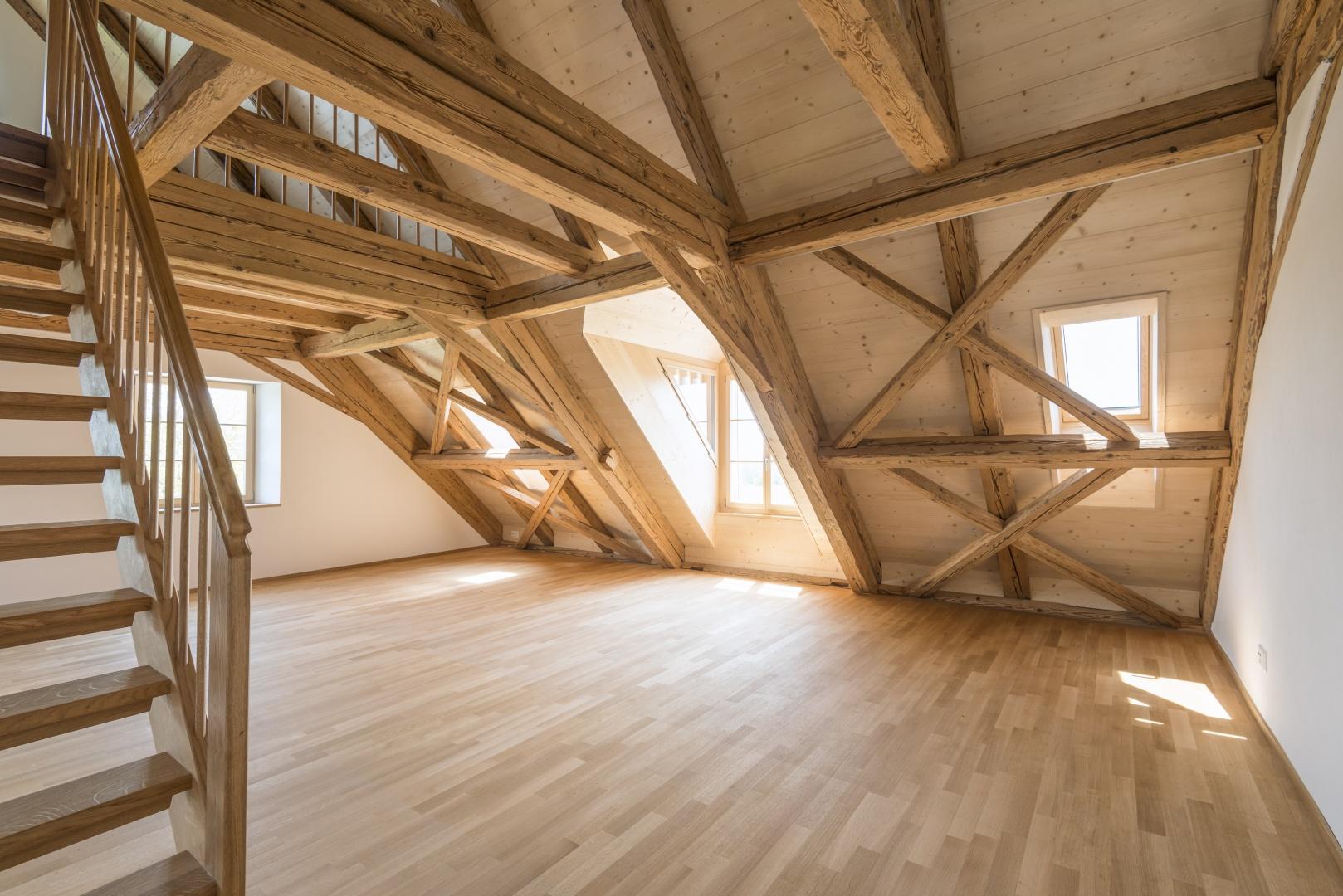 Innenausbau Dachwohnung © Klaus Hoffmann Fotograf