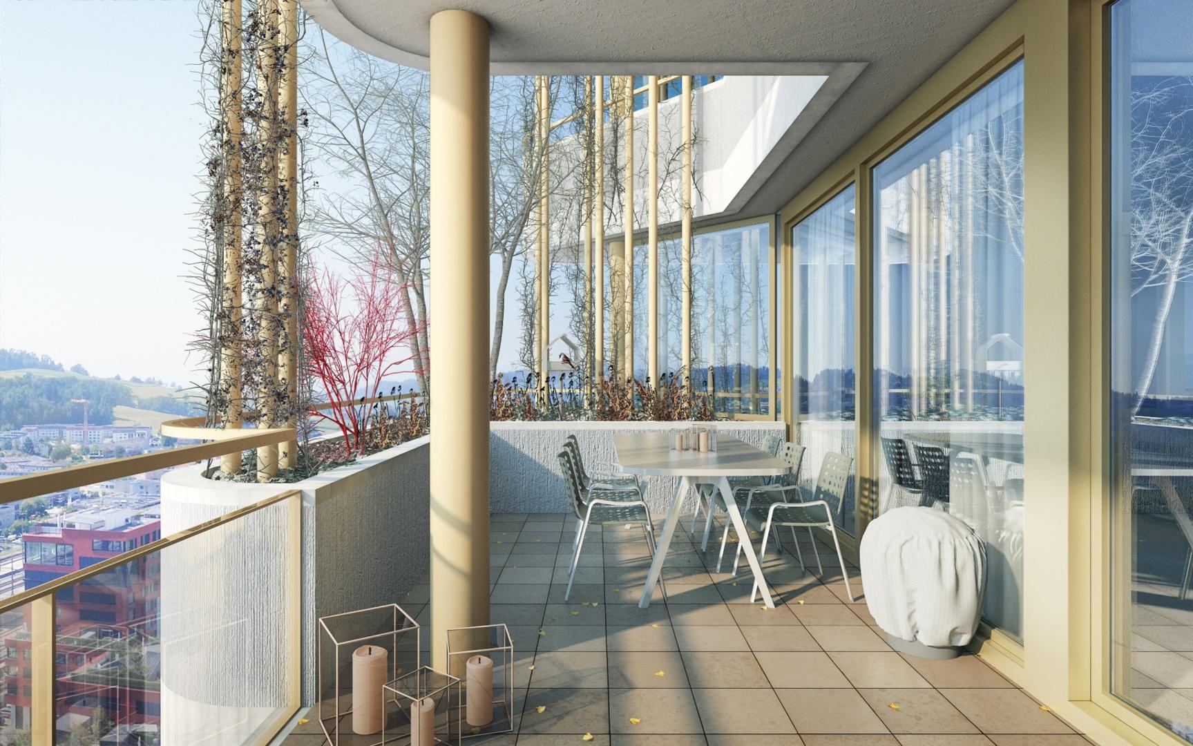 Balkonbegrünung Winter © Raumgleiter GmbH, Pfingstweidstrasse 106, 8005 Zürich