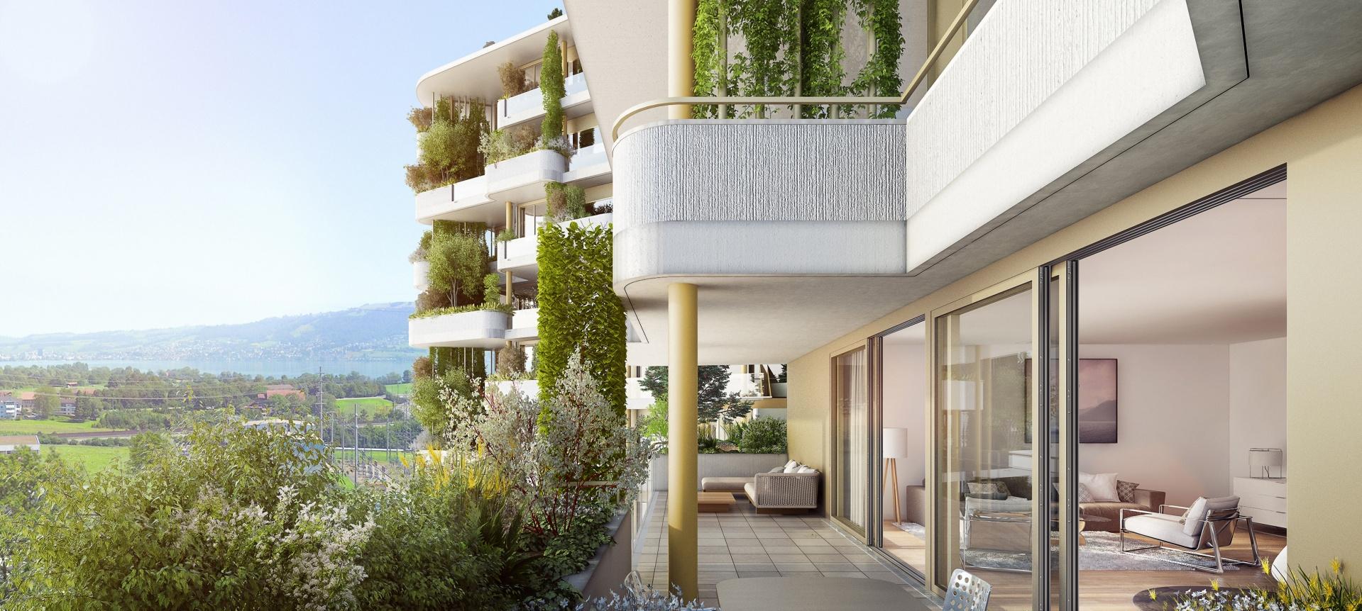 Auussicht Wohnungsbalkon © Raumgleiter GmbH, Pfingstweidstrasse 106, 8005 Zürich
