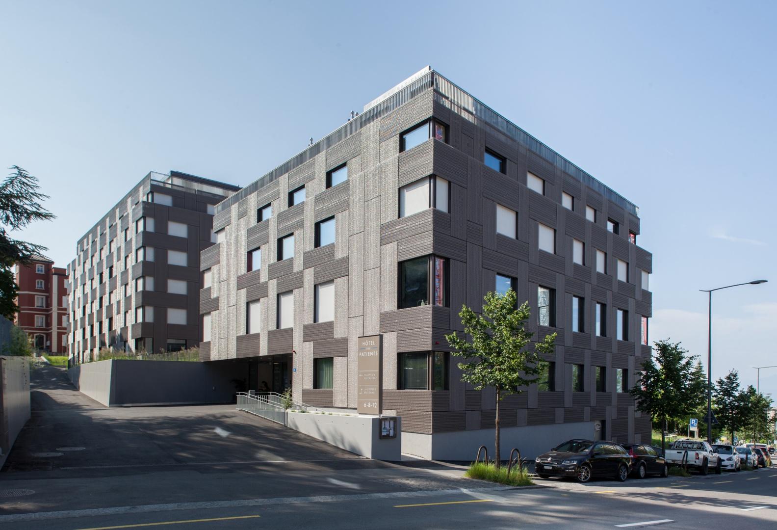 Hotel des patients, Lausanne, Brauen Wälchli Architectes © Brauen Wälchli Architectes, Marc Schellenberg
