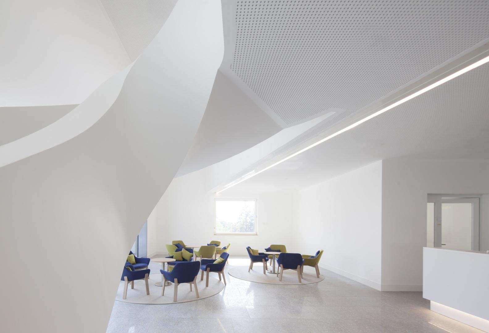 Hôtel des patients, réception © Brauen Wälchli Architectes, Marc Schellenberg